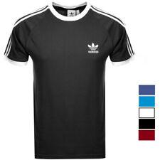 Adidas T-Shirt Shirt Raglan Trefoil Originals 3 Stripes Retro Tee CALIFORNIA NEU