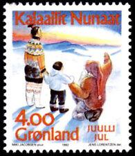 Greenland 1992 Christmas, Child with Santa, UNM / MNH