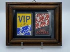 Set Pair Dire Straits On Every Street Tour Backstage Pass VIP Framed
