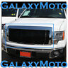 09-14 Ford F150 Gloss Black Billet Grille+Complete Replacement Chrome Shell STX