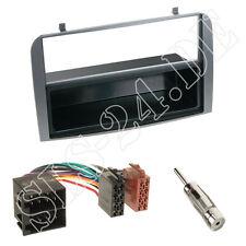 ALFA ROMEO 147 GT doppio DIN Pannello Radio ANTRACITE scomparto + + adattatore radio ISO + antenna