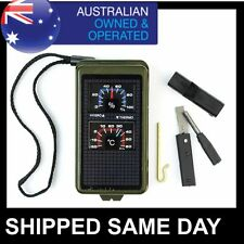 10 in 1 SURVIVAL TOOL Compass Fire Starter Hiking Camping ARMY TACTICAL GEAR