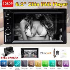 2-DIN Car Stereo CD DVD In-Dash Digital Media Receiver w/ Bluetooth& Rear Camera