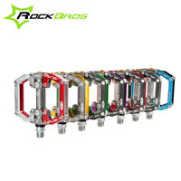 ROCKBROS BMX MTB Road Bike Pedals Platform Aluminum Alloy Sealed Bearing 9/16''
