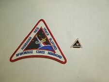 Lot of 2 NASA Space Shuttle Mission STS-39 Discovery Iron On Patch and Pin