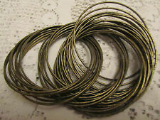 Dark Brass Tone Bangles Joined Together x 38