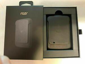 Motorola Razr Travel Pouch Sleeve RAZR 2019 Pouch Cover Noir Black Pure Leather