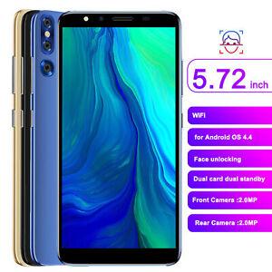 Smartphone 5.72in Full Screen Face ID Fingerprint Unlock 512MB+4GB Dual SIM Card