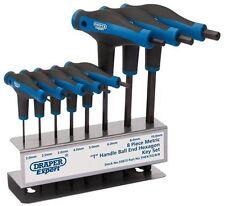 Draper 33873 Expert T Grip Ball and Hex End 2mm - 10mm 8 Pcs Allen Key Tool Set