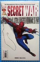 SECRET WAR Nr. 1 Marvel / Panini Comics Spider-Man deutsch ! NEU + Hülle & Board