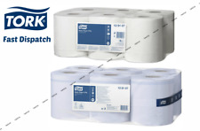 Tork M2 Basic Paper 2 Ply Centrefeed Roll *White/ Blue* Wiping Soft Towel 150m