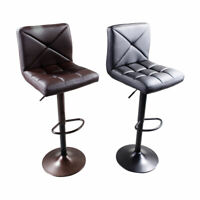 2pcs Adjustable High Type Disk without armrest Crossover Design Bar Stools Coffe
