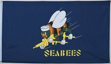 Seabees Flag 3x5 ft New navy U.S. military banner gt