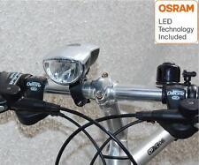 LED Fahrradlampe 40 Lux EXTREM hell blau Osram LED StVZO inkl. Batterien silber