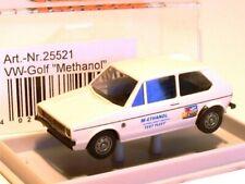 "Brekina 25521 H0 1:87 VW Golf I 2türig weiß ""Methanol Test-Fleet"" wie NEU OVP"