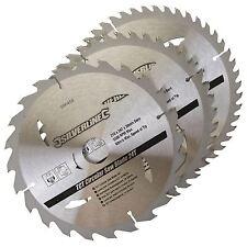 3 X 210mm TCT Circular Miter Chop Saw Blades 30mm Bore 16 & 25 mm Rings 690459
