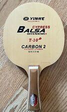 YinHe T10+ Table Tennis Balsa/Cypress Carbon Blade low 70s gram FL Handle
