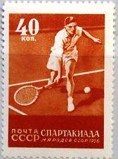 RUSSIA SOWJETUNION 1956 1855 C 1845 L 12,5 Sport Tennis Spartakiade UdSSR MNH