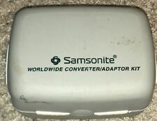 Samsonite Converter/Adapter Plug Kit with Case - Gray Missing 1 Piece See Pics