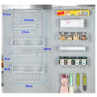 Kitchen Refrigerator Fridge Hanging Rack Shelf Side Storage Multi-Layer