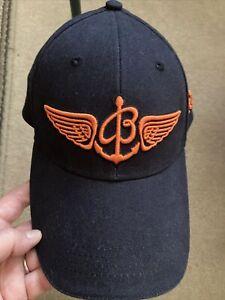 MEN'S AUTHENTIC NEW BREITLING BASEBALL HAT CAP NAVY ORANGE EMBROIDERY NEVER WORN