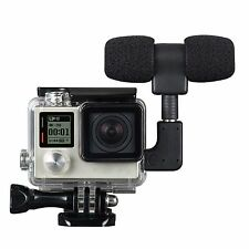 Side Open Skeleton Housing Case + Adapter Kit + Microphone For GoPro Hero 4 3+