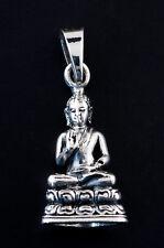 Pendentif tibetain Bouddha Amoghasiddhi Amulette bouddhiste Argent 925 6g 25442