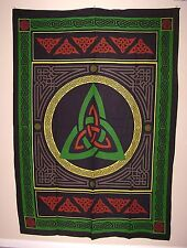 TRIQUETRA TAPESTRY STYLE WALL HANGING CELTIC KNOT PAGAN WICCA  ALTAR TABLE CLOTH