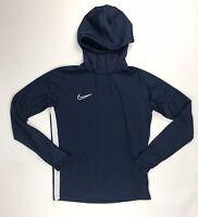 New Nike Performance Football Soccer Lightweight Hoodie Men's Medium Navy AJ9183