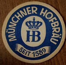 Vintage  MÜNCHNER HOFBRÄU Cardboard Coaster COLLECTIBLE