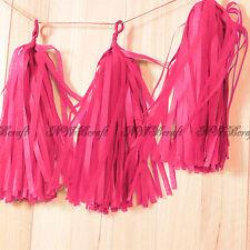 Tassels Garland Tissue Paper Bunting Wedding Birthday Party Baby Shower Décor Hot Pink
