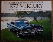 MERCURY RANGE orig 1972 USA Mkt Brochure - Marquis Monterey Montego Cougar Comet