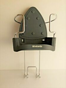 BRABANTIA Wall-Mounted Iron Rest and Hanging Ironing Board Holder - Gray