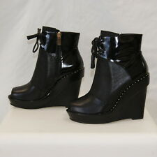 BEAU COOPS OPEN TOE LACE UP ANKLE BOOT SZ 37 BNIB WAS $275 NOW $99!!