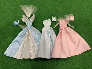 1990's Genuine Barbie Princess & Wedding Dresses Ball Gowns Inc Bags & Veil