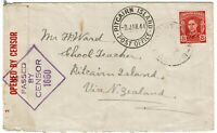 Pitcairn Island 1944 incoming cover from Australia, censored