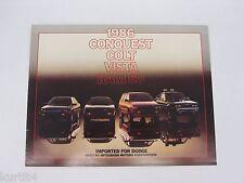 1986 Dodge Imports Conquest Colt Vista Ram 50 Original Sales Brochure Catalog sm