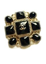 One Large Size Chanel Flat Square Maltese Style Button Charm, 35 mm