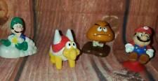 Vintage 1990 McDonalds Super Mario 3 Figures 4 Piece Toy Set Cake Toppers