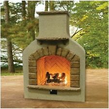 Designer Outdoor Fireplace - Propane &  Natural Gas - Crystal Fire & Log Set