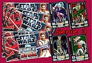 Star Wars Force Attax Serie 3- Basis-, Star-, limitierte Karten, Micky Maus OVP