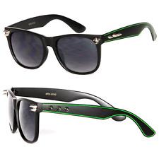 Retro Clásico Montura Cuadrada Tachuela Gafas de Sol - Verde / S. Negro Wf11