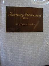 New Tommy Bahama Coastal Cotton White King Blanket
