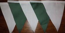 Tessuto Bianco & Verde Bunting Matrimonio Festa Di Compleanno Decorazione o superiore a 2 MT