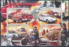 UGANDA 2012 SPECIAL TRANSPORT RED CROSS MOTORCYCLE CAR FIRE ENGINE SHEET