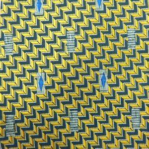 ROBERT TALBOTT Best of Class Men's Necktie Black Gold Geometric USA SILK