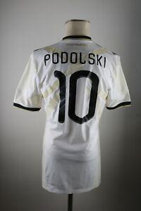 Deutschland DFB #10 Podolski techfit Trikot Gr. L Adidas 2010 WM Shirt Germany