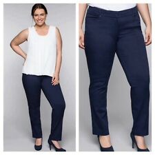 Sheego @ Kaleidoscope Size 18 Navy Slim Fit Stretch TROUSERS £54 Day Evening