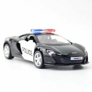 McLaren 650S Police Car 1:36 Model Car Diecast Kids Gift Toy Vehicle Collection
