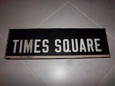 NYC SUBWAY SIGN NEW YORK R17 TIMES SQUARE ROLL SIGN MANHATTAN 42nd STREET NY ART